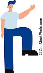 ilustración, vector, plano de fondo, caracter, alto, blanco...
