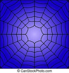 ilustración, vector, tela, arañas