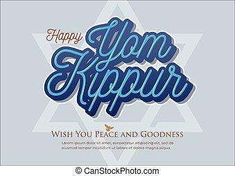 ilustración, yom kippur, vector