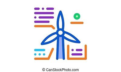 ilustracja, etiuda, parsing, wiatrak, ikona