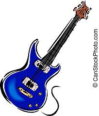 ilustracja, gitara
