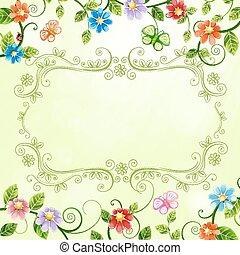 ilustracja, kwiatowy