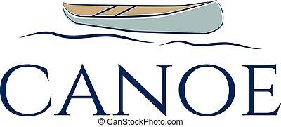 ilustracja, od, abstrakcyjny, ikona, canoe.vector