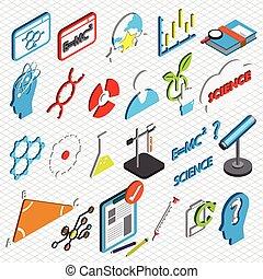 ilustracja, od, informacja, graficzny, nauka, ikony, komplet, pojęcie
