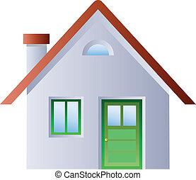 ilustracja, od, niejaki, dom