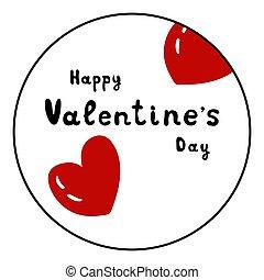 ilustracja, tło, dzień, biały, ikona, wektor, valentine