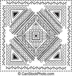 ilustracja, wektor, mandala, projektować