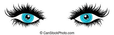 ilustrado, olhos