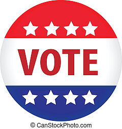 ilustrado, voto, imagem, botão