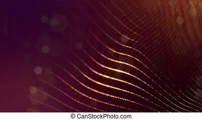 ilustrar, elements., abstratos, superfície, ouro, espaço, ...