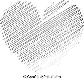 Ilustration of a black heart pattern background