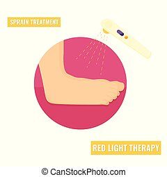Ilustration of an ankle strain. Bone injury icon.
