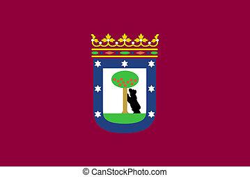 Madrid city flag