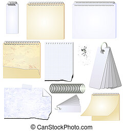 vector grunge notepad memopad scrap