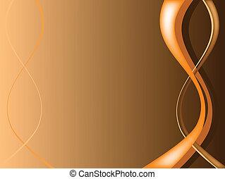 ilustration, résumé, orange, floral, vecteur