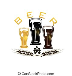 iluustration, bicchieri birra