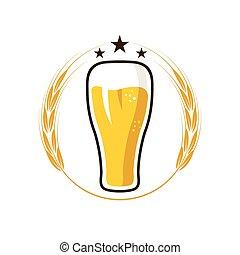 iluustration, vidro cerveja