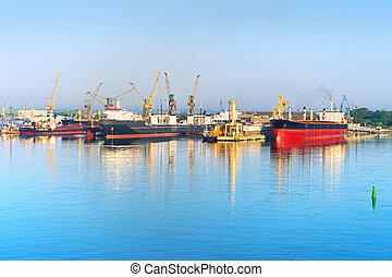 ilyichevs, formerly, port, mer, chornomorsk