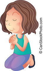 imádkozás, nő