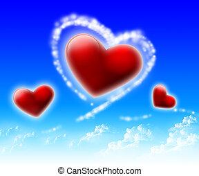 imágenes, de, corazón