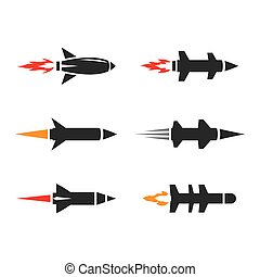 imágenes, misil, logotipo