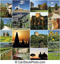 imágenes, serie, maravilloso, italia, toscana