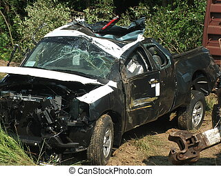 i'm a wreck - crashed truck in trian wreck