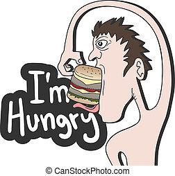 i?m, hongerige