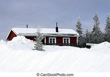 im, inverno, schweden