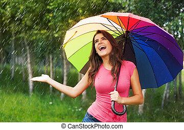 I'm so happy! finally raining!