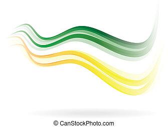 imag, amarela, bandeira, verde, swoosh, branca