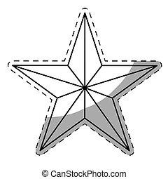 image, étoile, dessin animé, icône