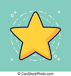 image, étoile, icône