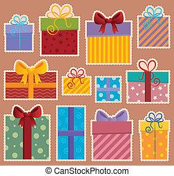 image, 2, thème, cadeau