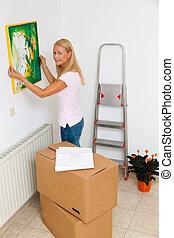 image, appartement, quand, pend, mme, en mouvement, nouveau