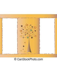 Image Autumn theme, frame for text
