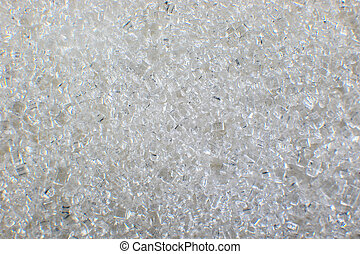 background close-up of white sugar crystals