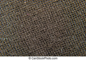 background of black fabric close-up weaving - image...