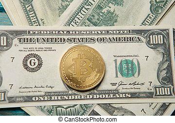 image, bitcoin, argent, crypto
