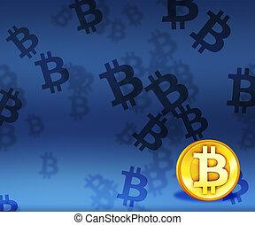 image, bitcoin, fond
