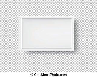 image, blanc, vecteur, cadre, illustration
