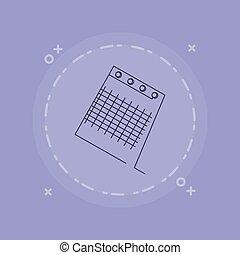 image, bloc-notes, icône