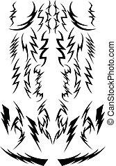 image, bolts, samling, lyn