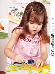 image, brosse, playroom., enfant