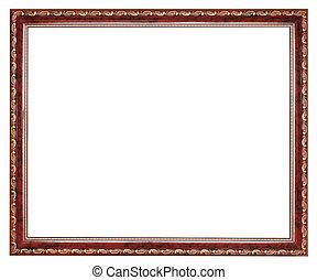 image, brun, bois, vendange, cadre, décoré