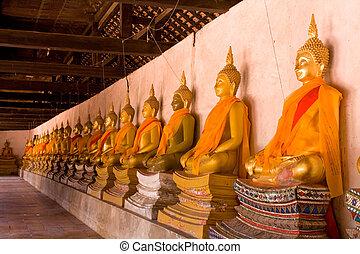 Image buddha - Ayutthay Historical Park in Thailand