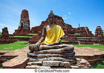 Image buddha - Ayutthaya ancient ,Thailand