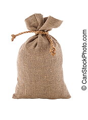 image, burlap sac, attaché