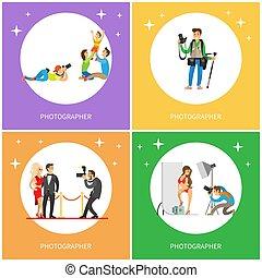 image, cameraman, prendre, célébrité, photographe