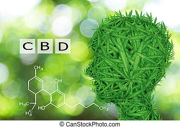 Image cannabis of the formula CBD.